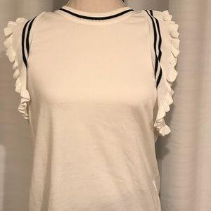 Cabi white sleeveless top size S